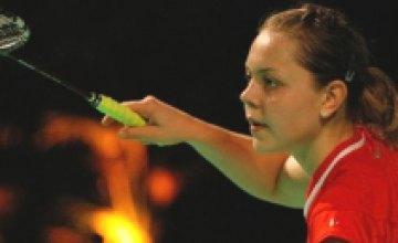 Днепропетровская бадминтонистка Лариса Грига проиграла японке Мегуми Таруно в 1/8 финала