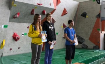 Спортсмены из Днепра заняли призовые места на молодежном чемпионате Украины по скалолазанию