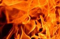 В Днепре горел гараж с автомобилем
