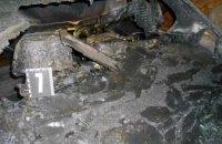 В Харькове во дворе частного дома дотла сгорела иномарка (ФОТО)