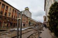На улице Короленко перешли к внешней отделке