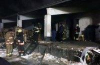 В Днепре на проспекте Богдана Хмельницкого горел склад