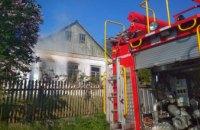 В Никополе загорелся жилой дом (ФОТО)