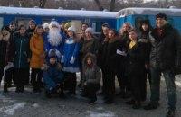 В Днепре до Рождества будет ездить поезд деда Мороза