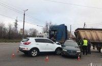 На Днепропетровщине произошло тройное ДТП с грузовиком: есть пострадавшие (ФОТО)