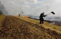 В Межевском районе сгорело 2 га стерни (ФОТО)