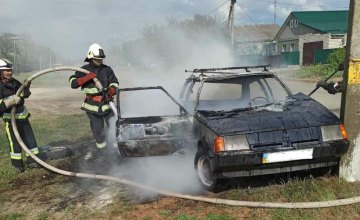 На Днепропетровщине сгорела припаркованная легковушка (ФОТО)