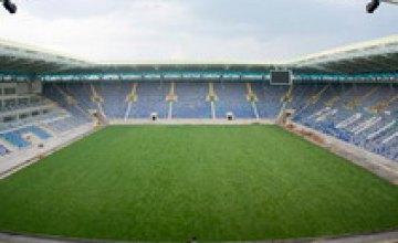 Стадион «Днепр» наконец-то «зазеленел»