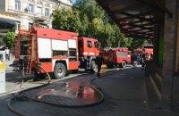 В Днепре произошел пожар в неэксплуатируемом здании: огнем уничтожено более 150 кв.метров (ФОТО, ВИДЕО)