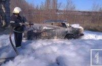 На Днепропетровщине на стоянке дотла сгорел автомобиль