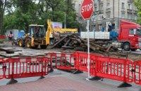 У Дніпрі за сучасною технологією ремонтують трамвайний переїзд на перехресті просп. Яворницького та вул. Вернадського