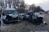 В Харьковской области иномарка протаранила  микроавтобус: погибло 4 человека (ВИДЕО)