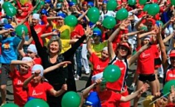 Юные спортсмены Днепропетровска провели фитнес-марафон