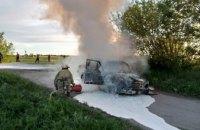 В Юрьевском районе на ходу вспыхнуло авто (ФОТО)