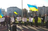 В Каменском рабочие и активисты снова митингуют против мэра Белоусова требуя прекратить давление на предприятие «Блок ЛТД»