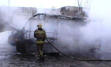 В Сумах на ходу загорелась маршрутка (ФОТО)