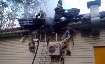 На Днепропетровщине в жилом доме произошел пожар:огнем уничтожено 100 кв.метров