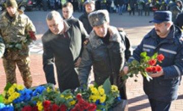В Днепре спасатели приняли участие в мероприятиях посвященных Дню Соборности Украины