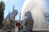 На ДТЭК Приднепровской ТЭС провели тренировку по тушению пожара