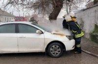 В Павлограде сгорел автомобиль