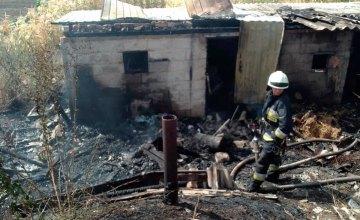 На Днепропетровщине горело заброшенное здание