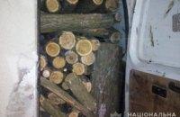 В Никопольском районе задержали незаконных лесорубов: мужчины спилили более шести кубов акации (ФОТО)