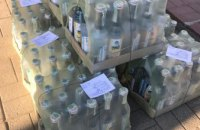 В магазине на Днепропетровщине торгуют контрафактной водкой: изъято 160 бутылок