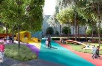 Днепр становится инклюзивным: в сквере Героев строят парк для детей с особыми потребностями