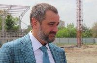 Народный депутат Андрей Павелко в Днепре проверил ход строительства первого в Украине стадиона по пляжным видам спорта
