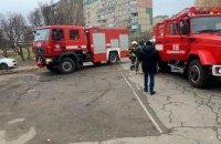 В Кривом Роге загорелся продуктовый магазин