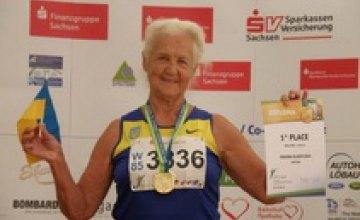 90-летняя жительница Днепропетровской области установила рекорд Украины по бегу