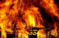 В Киеве возле одного из институтов произошел пожар в автомобиле Renault Kangoo