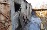 На Днепропетровщине во время пожара в частном доме спасли женщину