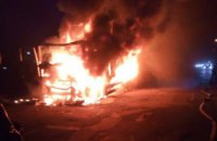 На Днепропетровщине на ходу  загорелся грузовик (ФОТО)