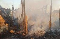 На Днепропетровщине спасатели более часа тушили пожар на сеновале: огнем уничтожено 0,5 тонны сена