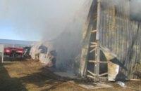 В Днепропетровской области сгорел ангар со специями