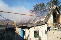 В Софиевском районе спасатели ликвидировали пожар на территории частного домовладения