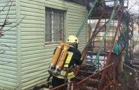 На Днепропетровщине горел двухэтажный частный дом