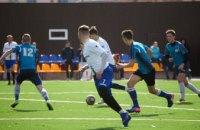 На новом поле в Каменском сборная Днепропетровской ОГА сыграла в футбол с местной командой (ФОТОРЕПОРТАЖ)
