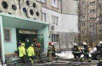 В Киеве на пожаре в своей квартире погиб человек
