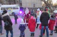Как проходит «Новогодний караван в Днепре (ФОТО, ВИДЕО)