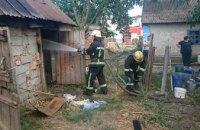 В Днепропетровской области спасатели за час ликвидировали пожар на территории частного сектора (ВИДЕО)