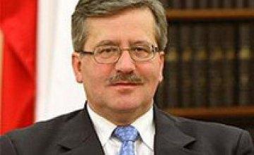 В Украине ожидают президента Польши