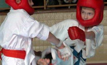 Криворожане заняли первое место на Первенстве области по каратэ