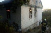 В Днепре горел заброшенный дом