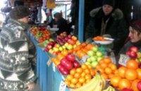 Овощи и фрукты за год подорожали на 72%