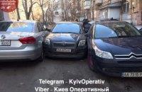 В Киеве водитель столкнулся с двумя автомобилями, уходя от погони полиции