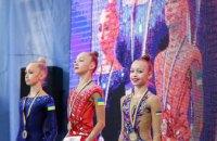 Днепровские спортсменки заняли призовые места на чемпионате Украины по художественной гимнастике