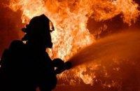 На Киевщине загорелся балкон пятиэтажного дома