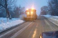 В ночь на 9 января на дорогах Днепра работало 86 снегоуборочных машин
